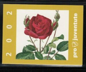 SWITZERLAND Pro Juventute 2002 ROSES MNH booklet
