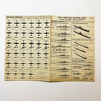 WWII RESTRICTED 1944 'Japanese Aircraft & Warship' Joint Army Navy Poster Relic