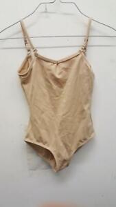 Dance Leotard Large Child Nude Adjustable Straps Capezio Ballet Jazz Costume