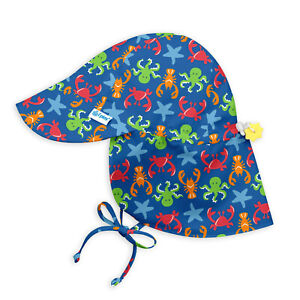 iPlay by green sprouts Baby & Toddler Crabs Octopus Sun Protection Hat UPF 50+