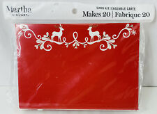 New! Martha Stewart Crafting 20pc Red & Gold Christmas Holiday Greeting Card Kit