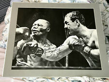 Rocky Marciano signed giant 16x20 photo vs Walcott in 1952 title fight - PSA DNA