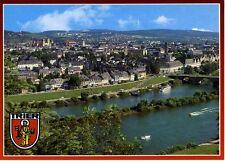 Postkarte Trier Fotokunst Schwalbe: 2/1 Blick auf die Stadt mit Mosel