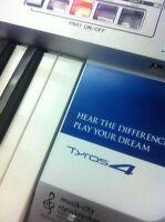 """Für YAMAHA Tyros 4 Keyboard  """"Sticker"""" Hear the difference + Volumenschutz k0914"""