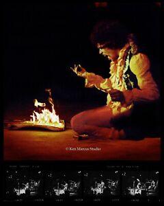 Jimi Hendrix en Feu Guitare Chez Monterey Pop Signée Ltd.Édition Photo Par Ken