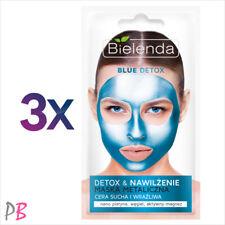 Bielenda 3x BLUE DETOX Moisturizing Metallic Face Mask for Dry & Sensitive Skin