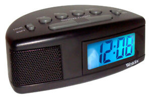 Westclox Battery Operated Lcd Alarm Clock 47547 Clocks