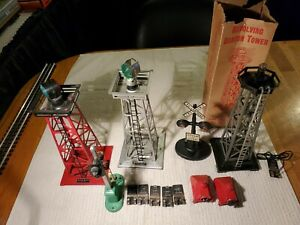 Lionel / Marx Postwar O/027 Lot Of Signals/Towers/ For Parts Or Restoration