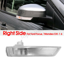 Right Driver Side Wing Mirror Indicator Light Lens Cover For Ford Focus 2008 On