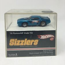 Hot Wheels Sizzlers 1970 PLYMOUTH CUDA Blue w/ Redlines Tires New in Case 2006