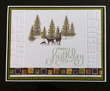 Handmade Masculine Birthday Greeting Card Deer Wildlife  Adult Teen