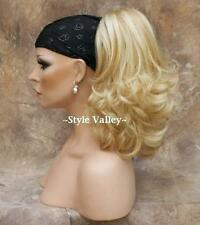 Blonde Ponytail Extension Claw Clip in hair piece Flip out Curly ends Hairpiece