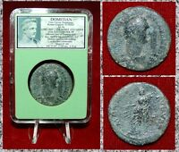 Ancient Roman Empire Coin Of DOMITIAN Moneta With Cronucopia On Reverse