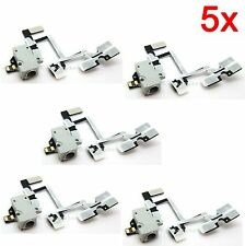 5x white Headphone Audio Jack Power Volume Switch Flex Cable for Apple iPhone 4G
