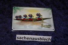 Sarotti Mohr Mohren im Boot Blechschild Blechpostkarte