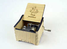 Pink Panther / Wood Personalized Hand Crank Wooden Music Box