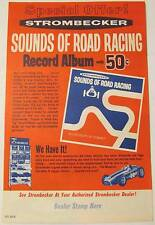 '60s Strombecker Sounds of Road Racing Record Album and Sets Ad