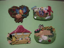 Magnet - Garden / Bird House (set of 4) - #1776