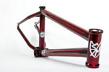 S&M BIKES ATF FRAME 21.25 TRANS RED BMX BIKE CLEAR FIT CULT TRANSLUCENT APPLE