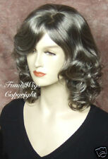 Medium Brown with 65% Silver Grey Wig for Elder Ladys /Brilliant Fibre & Quality
