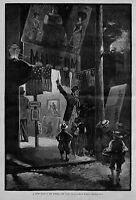 NEW YORK BOWERY NIGHT SCENE AMUSEMENTS CURIOUS YOUNG BOYS MUSEUM FAT LADY