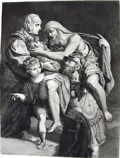 Roman Mythology Man Male Muscles Hero Trojan War Aeneas ~ 1887 Art Print Etching