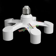 5 en 1 blanc E27 pour vis E27 base socket splitter led lampe ampoule  support