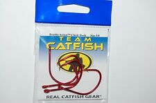 team catfish hooks real gear double action circle hook 5/0 tc84z red