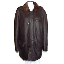 GIORGIO ARMANI Le Collezioni Sheepskin Leather Jacket Brown Italy Women's - 44