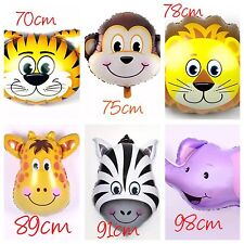 6x JUMBO Animal Zoo Safari Foil Helium Balloon Party Supplies Deco Lolly Bags