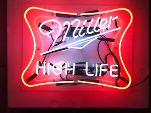 "New Miller High Life Acrylic Neon Light Sign 20""x16"" Lamp Beer Bedroom Decor Bar"