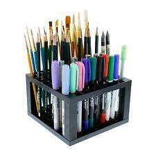 Pencil Brush Holder Stand Plastic Artist Desk Organizer Paint Marker - 96 Holes