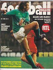1977 football magazine n°210 FRANCE RFA HEIGHWAY KEEGAN BATHENAY DRUT RIVELINO