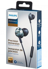 Philips high-resolution audio in-ear headphones with mic PRO6305BK.Free UK P&P