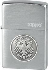 ZIPPO - BENZIN - FEUERZEUG - CHROME BRUSHED - ADLER DEUTSCHLAND - 251063 -