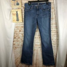 7 Seven for all Mankind size 31 A pocket boot cut blue denim jeans
