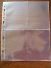 MULTIMASTER SYSTEM QUALITY 4 Pocket ACID FREE POSTCARD PAGES Pack of 10