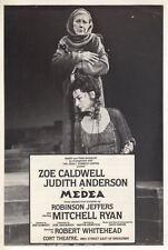 """Judith Anderson & Zoe Caldwell  """"Medea""""  FLYER  1982  Broadway  Revival"""