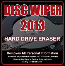 DISC WIPER CD • HARD DRIVE ERASER • DISK WIPE ERASE DELETE { BEYOND RECOVERY }