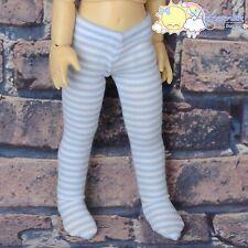 Stretch Stockings Tights Pale Blue White Stripes for Yo-SD Littlefee BJD Dolls