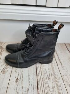 Ariat Boots Womens Size 10B EUR 41.5 Black Combat Leather Upper