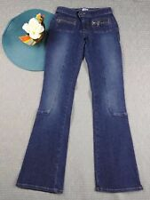 GUESS STRETCH DENIM WOMEN'S LOW RISE STRAIGHT DENIM JEANS SIZE 27 CASUAL SS13