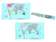 Weltkarte zum Rubbeln  Rubbel Weltkarte   ca. 88 x 52 cm