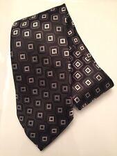 Versa Hand Made Neck Tie Black Checked Necktie NWOT