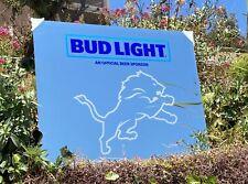 Bud Light NFL Detroit Lions Football Beer Bar Mirror Man Cave Pub New