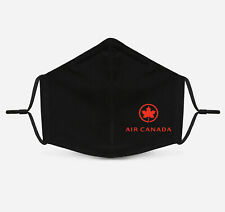 Air Canada Airlines - Face Mask Fashion 2 Layers + Pocket Custom Made in US