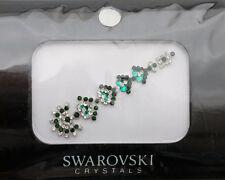 Bindi bijoux piel boda frente strass cristal de Swarovski verde INHC 3604