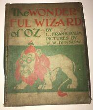 THE WONDERFUL WIZARD OF OZ! Baum (FIRST EDITION 1899!)1900 (Worn/Poor Condition)