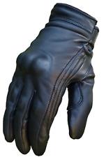 BUSA Short Cruiser Harley Leather Motorcycle Winter Black Bobber Armour Gloves