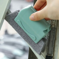 Window Door Track Cleaning Brush Gap Groove Sliding Tools Dust Cleaner Kitchen@